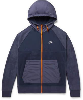 Nike Shell-Panelled Fleece Zip-Up Hoodie