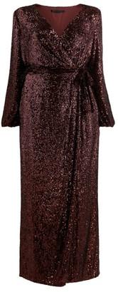 Marina Rinaldi Sequin Wrap Dress