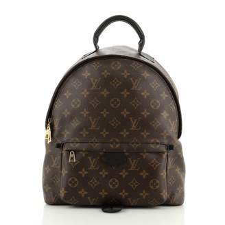 Louis Vuitton Palm Springs Black Leather Backpacks