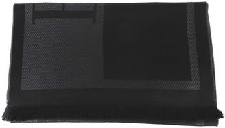 Emporio Armani Black Oversize Wool Scarf