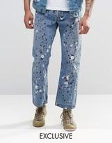 Reclaimed Vintage Levis 501 Jeans In Paint Splatter