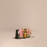 Burberry The Mini Buckle Bag in Snakeskin and House Check