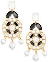 Kate Spade Gold-Tone Multi-Stone Drop Earrings