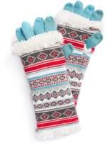 Muk Luks Women's 3-in-1 Fairisle Tech Gloves