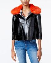 GUESS Sermin Faux-Fur-Trim Jacket