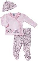 Petit Lem Romantic Garden 3 Piece Set (Baby) - Pink-3 Months