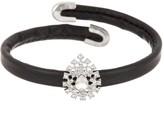 Natasha Accessories Leather Cuff Bracelet with Mini Tear Drop