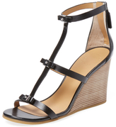 Marc by Marc Jacobs Cube Bow Leather Wedge Sandal