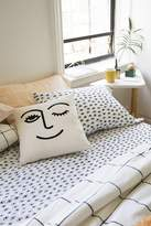 Urban Outfitters Winky Embroidered Pillow