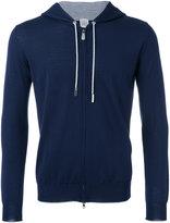 Eleventy zipped hoodie - men - Silk/Merino - S