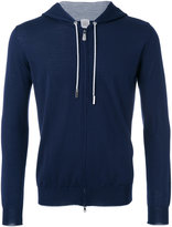 Eleventy zipped hoodie - men - Silk/Merino - XL