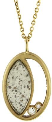 Darsana Mezzaluna Yellow Gold Necklace