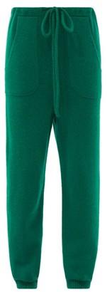 The Elder Statesman Drawstring-waist Cashmere Track Pants - Green