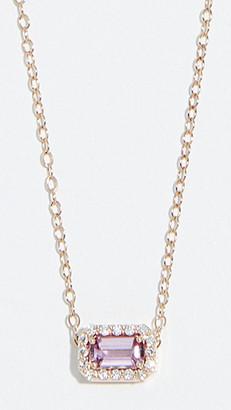 Alison Lou 14k Sapphire and Diamond Tiny Necklace