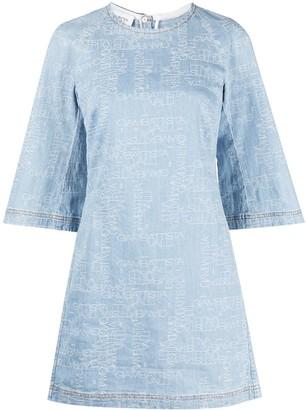 Giambattista Valli Logo-Print Cotton Mini Dress