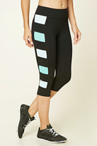 Forever 21 Active Contrast Capri Leggings