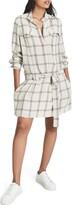 Thumbnail for your product : Reiss Dasha Windowpane Plaid Long Sleeve Shirtdress