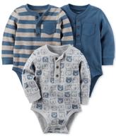 Carter's 3-Pk. Cotton Henley Bodysuits, Baby Boys (0-24 months)