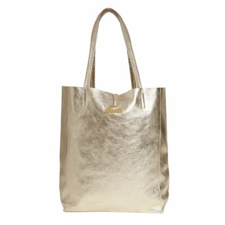 Betsy & Floss Soft Leather Tote Bag In Gold
