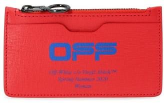 Off-White Zip card holder