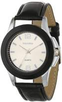 Impulse Women's IM2073SL Sun's Edge Metal Dial with Leather Band Watch