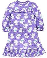 Little Me Little Girls Kitty Cat Long Sleeve Nightgown Sleepwear 2 Toddler