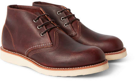Red Wing Shoes Work Leather Chukka Boots - Brown