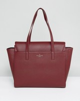 Pauls Boutique Oxblood Winged Structured Tote Bag