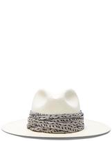 Janessa Leone Marine Short Brimmed Panama Hat