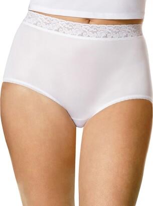 Hanes Women's Plus-Size 3-Pack Nylon Brief Plus Panty