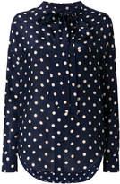 Balenciaga Gathered polka dot blouse