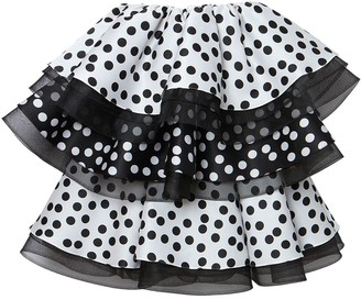 Carolina Herrera Ruffle-Detail Polka Dot Minidress