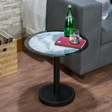 ACME Furniture ACME Boli Side Table, Map Glass & Black