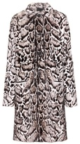 Christopher Kane Jaguar printed fur and leather coat