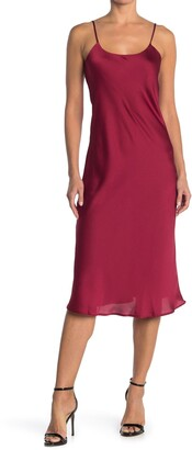 Vanity Room Satin Midi Slip Dress