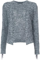 Yigal Azrouel Fringe knit sweater