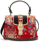 Gucci Sylvie mini floral-jacquard shoulder bag