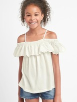 Gap Eyelet off shoulder top
