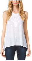Michael Kors Embroidered Jersey Tank
