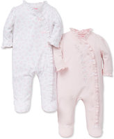 Little Me Baby Girls' 2-Pk. Floral Footed Coveralls
