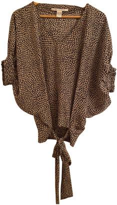 Diane von Furstenberg Beige Silk Tops