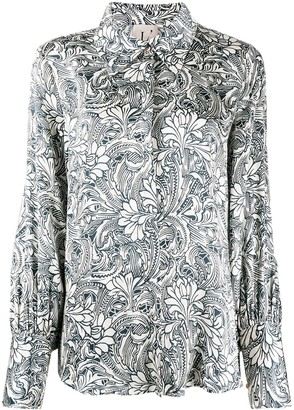 L'Autre Chose Floral Print Button-Down Shirt