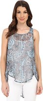 Michael Stars Women's Shell with Back Keyhole