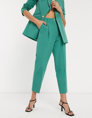 Topshop tailored pants in mint co-ord