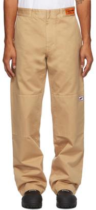 Heron Preston Tan Uniform Trousers