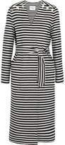 Max Mara Striped Wool And Angora-Blend Coat