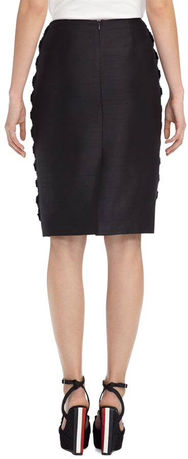 Brooks Brothers Bow Tulle Lace Skirt