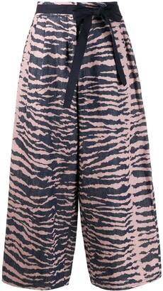 Odeeh Wide Leg Tiger Stripe Trousers