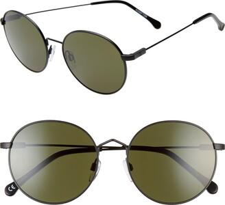 ELECTRIC Hampton 55mm Round Sunglasses