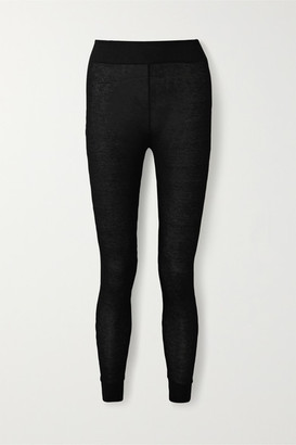 Commando Stretch-modal And Cashmere-blend Leggings - Black